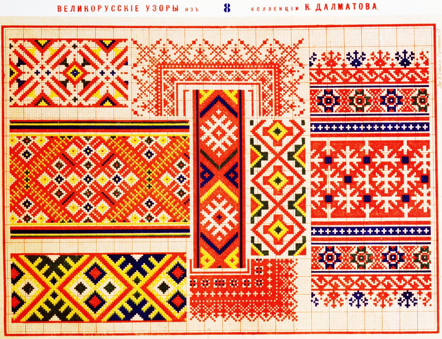 Русский орнамент в вышивке: традиция и современность.