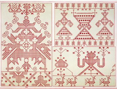 Узоры и орнаменты в русской вышивке 469